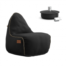 SACKit Retroit Compressed Lounge Chair + Olielampe