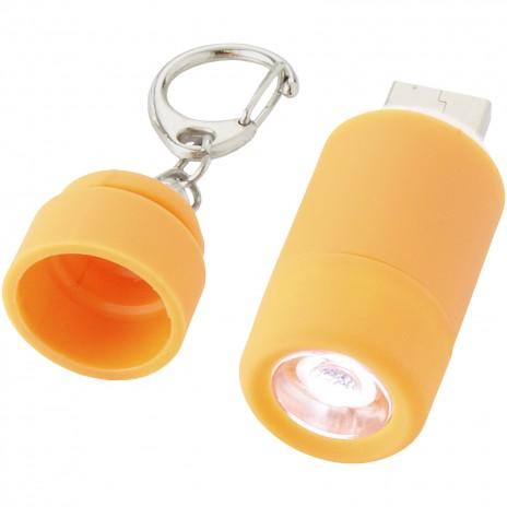 Avior nøglering med USB og genopladelig LED lys