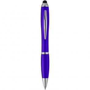 Nash stylus kuglepen med farvet krop og farvet greb