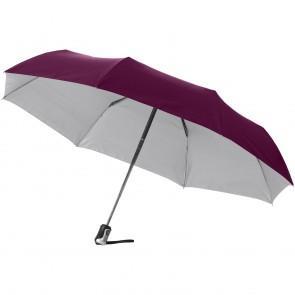 """21,5"""" Alex 3-sektions paraply med automatisk åben/luk funktion"""