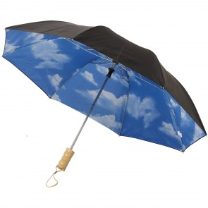 "21"" Blue himmel 2-sektions automatisk paraply"