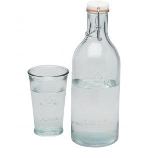 Vandflaske med glas