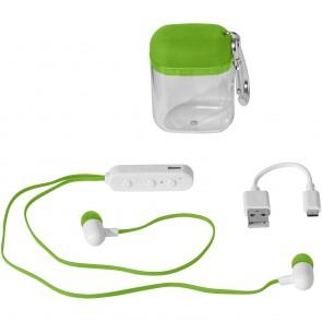 Budget Bluetooth® hovedtelefoner i etui med karabinhage