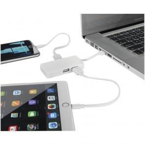 Grid USB-hub med dobbelt kabel