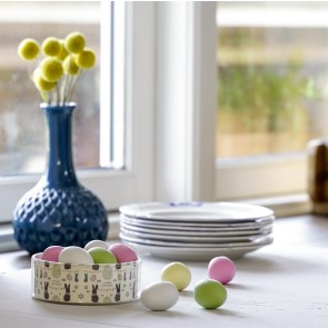 Easter Bunny plastdåse, marcipan pastelæg 7 stk. 100-105g