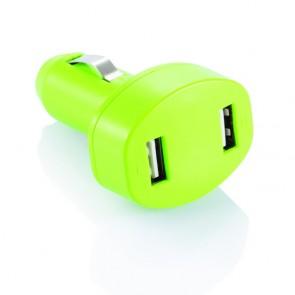Dobbelt USB-oplader til bilen