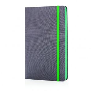 Luksus metervare notesbog med farvet ryg