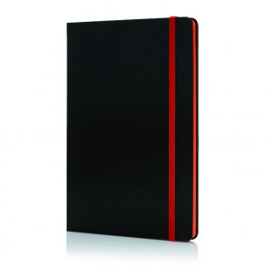 Luksus hardcover PU A5 notesbog med farvet side