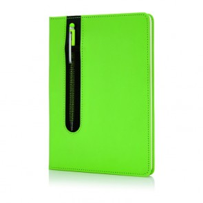 Standard hardcover PU A5 notesbog med stylus pen