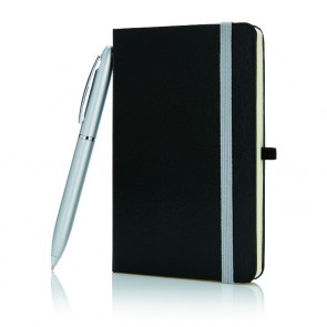 A6-notesbog med pen - i gaveæske