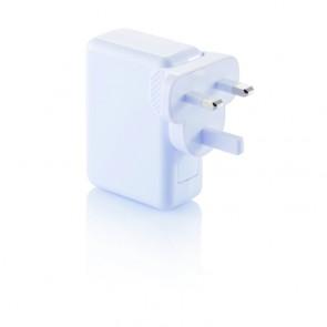 Rejsestik med 4 USB-porte