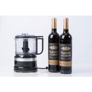 KitchenAid minifoodprocesser og 2 fl. rødvin