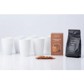 Pillivuyt Plissé Termokrus med kaffe og småkager