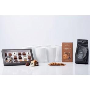 Pillivuyt Plissé Termokrus med meget chokolade, kaffe og småkager