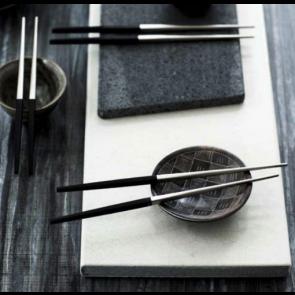 Gense Spisepindei sort/mat stål